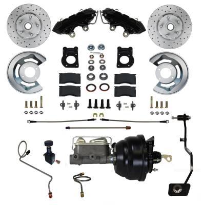LEED Brakes Power Brake Kit Black Powder Coated Calipers