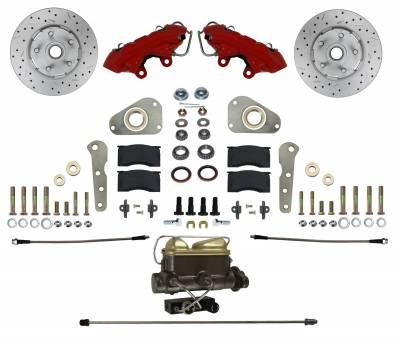 Full Size Ford Manual Brake Kit Red Powder Coat