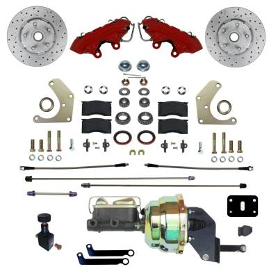Mopar Power Front Brake Kit Red Powder Coated Calipers