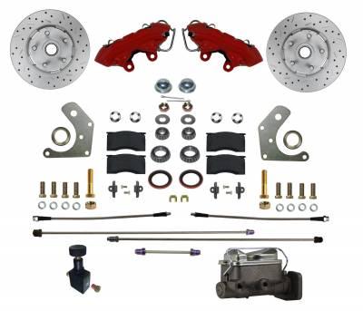 Mopar Manual Brake Kit Red Powder Coat