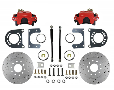 Rear Disc Brake Conversion Kit - GM Full Size - Red Caliper and MaxGrip XDS