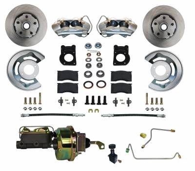 1964-66 Mustang Power Disc Brake Kit for Manual Transmission Cars - LEED Brakes