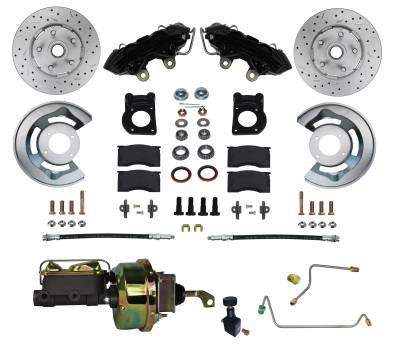 1964-66 Mustang Power Disc Brake kit for Manual Transmission Cars - LEED Brakes