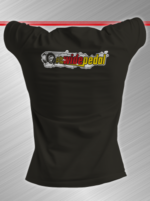 #forthewidepedal back of shirt
