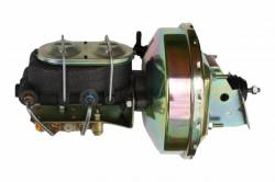 LEED Brakes - 9 inch power booster , 1-1/8 inch Bore master, bottom mount valve, disc/drum (Zinc)