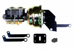 Power Brake Booster Kits - Power Brakes - Front Disc / Rear Drum Brakes - LEED Brakes - 8 inch Dual Power booster , 1 -1/8 inch Bore master, bottom mount valve, disc/drum (Zinc)