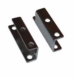 Master Cylinders & Power Boosters - Power Booster Brackets - LEED Brakes - Booster Bracket Set Chevy 55-58, Mustang 64-66 (Chrome)