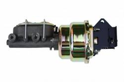 Master Cylinders & Power Boosters - Power Brake Booster Kits - LEED Brakes - 7 inch Dual power booster , 1-1/8 inch Bore master (Zinc)