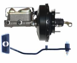 LEED Brakes - 9 inch power brake booster with bracket, 1 inch bore master cylinder  with Automatic Trans Brake Pedal - Image 1