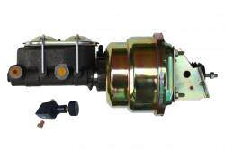 Power Brake Booster Kits - Power Brakes - Front Disc / Rear Drum Brakes - LEED Brakes - 7 inch Dual power booster , 1-1/8 inch Bore master, with Adjustable Proportioning Valve (Zinc)
