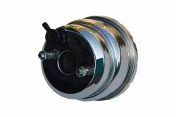 LEED Brakes - 7 inch Dual power booster , 1-1/8 inch Bore master with Chrome Lid & side mount valve, disc/disc (Chrome) - Image 3