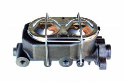 LEED Brakes - 7 inch Dual power booster , 1-1/8 inch Bore master with Chrome Lid & side mount valve, disc/disc (Chrome) - Image 2