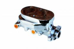 LEED Brakes - 8 inch Dual power booster , 1-1/8 inch Bore Flat Top master, side mount valve, disc/drum (Chrome) - Image 2