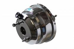 LEED Brakes - 8 inch Dual power booster , 1-1/8 inch Bore master with Chrome Lid & side mount valve, disc/disc (Chrome) - Image 3