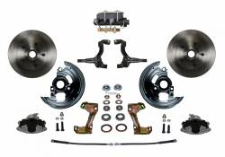 Front Disc Brake Conversion Kits - Manual Front Kits - LEED Brakes - Manual Front Disc Brake Conversion Kit with Cast Iron M/C Disc/Drum Bottom Mount