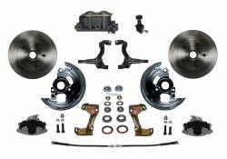 Front Disc Brake Conversion Kits - Manual Front Kits - LEED Brakes - Manual Front Disc Brake Conversion Kit with Cast Iron M/C Adjustable Proportioning Valve
