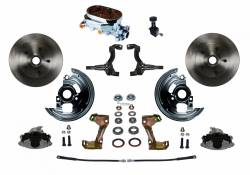 Universal Fit Products - Universal Front Disc Brake Conversions - LEED Brakes - Manual Front Disc Brake Conversion Kit with Cast Iron Chrome Top M/C Adjustable Proportioning Valve