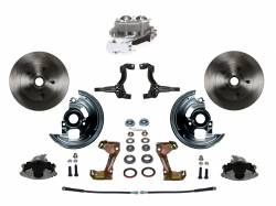 Universal Fit Products - Universal Front Disc Brake Conversions - LEED Brakes - Manual Front Disc Brake Conversion Kit with Cast Iron Chrome Top M/C Disc/Drum Side Mount