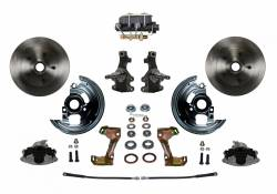 "Manual Front Kits - Manual Front Kit - 2"" Drop Spindles - LEED Brakes - Manual Front Disc Brake Conversion 2"" Drop Spindle with Cast Iron M/C Disc/Drum Bottom Mount"
