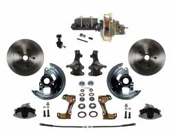 "Power Front Kits - Power Front Kit - 2"" Drop Spindles - LEED Brakes - Power Front Disc Brake Conversion Kit 2"" Drop Spindle with 9"" Zinc Booster Cast Iron M/C Adjustable Proportioning Valve"