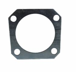 Rear disc brake shim flange