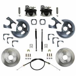 Rear Disc Brake Conversion Kits - LEED Brakes - Rear Disc Brake Conversion Kit - GM 10 & 12 Bolt Axles 5 x4.75 with Staggered Shocks