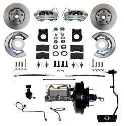 Front Disc Brake Conversion Kits - All Front Disc Brake Kits - LEED Brakes - Power Disc Brake Conversion 70 Mustang with Automatic Transmission - 4Piston