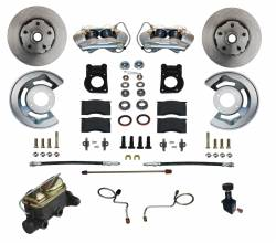 Front Disc Brake Conversion Kits - Manual Front Kits - LEED Brakes - Manual Disc Brake Conversion 67-69 Ford - 4 Piston