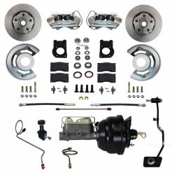 Front Disc Brake Conversion Kits - Power Front Kits - LEED Brakes - Power Disc Brake Conversion 67-69 Ford with Manual Transmission - 4Piston