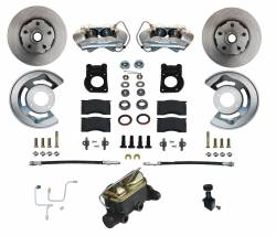 Front Disc Brake Conversion Kits - Manual Front Kits - LEED Brakes - Manual Front Disc Brake Conversion 64.5-66 Ford - 4 Piston