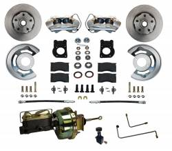 Front Disc Brake Conversion Kits - All Front Disc Brake Kits - LEED Brakes - Power Disc Brake Conversion 64.5-66 Ford Automatic Trans - 4 Piston