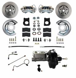 Front Disc Brake Conversion Kits - All Front Disc Brake Kits - LEED Brakes - Power Disc Brake Conversion 1971-73 Mustang - 4Piston