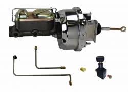 LEED Brakes - Chrome Hydraulic Kit - Power Brakes 64.5-66 Mustang Auto Trans