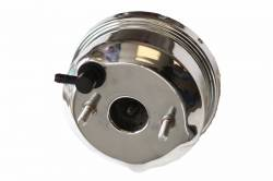 "LEED Brakes - 7"" Chrome Power Brakes Front Disc Rear Drum 64.5-66 Mustang Auto Trans - Image 3"