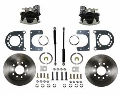 Rear Disc Brake Conversion Kits - Standard Rear Disc Brake Conversion Kits - LEED Brakes - Rear Disc Brake Conversion Kit - Ford 8in 9in Small bearing