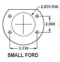 Small Bearing Ford Axle Flange Dimensions