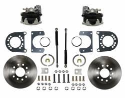 Rear Disc Brake Conversion Kits - LEED Brakes - Rear Disc Brake Conversion Kit - Ford 9in Large bearing New Style Torino