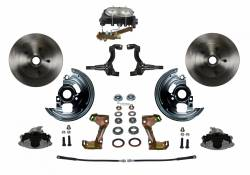 Front Disc Brake Conversion Kits - LEED Brakes - Manual Front Disc Brake Conversion Kit with Cast Iron M/C Disc/Drum Side Mount