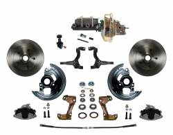 "Power Front Kit - Stock Ride Height - _Standard Kit - LEED Brakes - Power Front Disc Brake Conversion Kit with 9"" Zinc Booster Cast Iron M/C Adjustable Proportioning Valve"