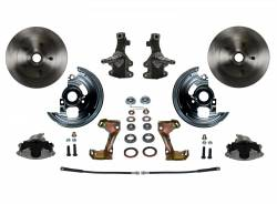 "Front Disc Brake Conversion Kits - LEED Brakes - Spindle Mount Kit With 2"" Drop Spindle"