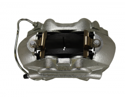 Disc Brake Parts - Brake Calipers - LEED Brakes - Caliper - Mustang 65-66 Loaded 3/8 inch inlet Stainless Steel Pistons RH
