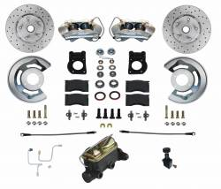 Front Disc Brake Conversion Kits - All Front Disc Brake Kits - LEED Brakes - Manual Front Disc Brake Conversion 64.5-66 Ford | 4 Piston Caliper MaxGrip XDS Rotors
