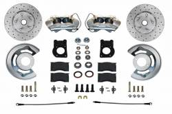 Front Disc Brake Conversion Kits - All Front Disc Brake Kits - LEED Brakes - Front Disc Brake Conversion Kit Spindle Mount - 65-69 Ford | 4 Piston Calipers MaxGrip XDS Rotors