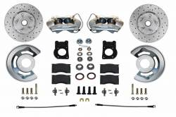 Front Disc Brake Conversion Kits - Spindle Mount Kits - LEED Brakes - Front Disc Brake Conversion Kit 70-73 Ford Mustang, Cougar | MaxGrip XDS Rotors