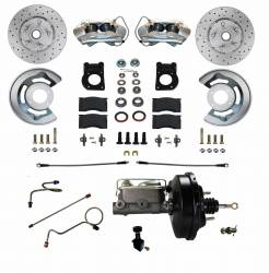 Front Disc Brake Conversion Kits - All Front Disc Brake Kits - LEED Brakes - Power Disc Brake Conversion 1971-73 Mustang | 4 Piston MaxGrip XDS Rotors