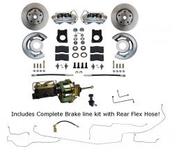 Front Disc Brake Conversion Kits - Power Front Kits - LEED Brakes - Power Disc Brake Conversion with Pre-Bent Brake Line Kit