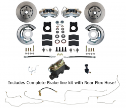 Front Disc Brake Conversion Kits - All Front Disc Brake Kits - LEED Brakes - Manual Front Disc Brake Conversion with Pre-Bent Brake line Kit