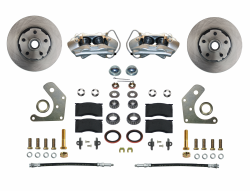 Front Disc Brake Conversion Kits - Spindle Mount Kits - LEED Brakes - Front Disc Brake Conversion Kit Spindle Mount Mopar B & E Body
