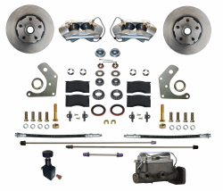 Front Disc Brake Conversion Kits - All Front Disc Brake Kits - LEED Brakes - Manual Front Disc Brake Conversion Kit  Mopar B & E Body