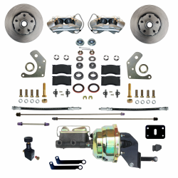 Front Disc Brake Conversion Kits - Power Front Kits - LEED Brakes - Power Front Disc Brake Conversion Kit  Mopar B & E Body